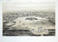 Milan, vue prise au dessus de l'Arc du Simplon.