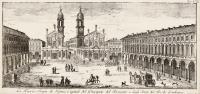La piazza regia di Turino, capitale del principato del Piemonte e degli stati del Re di Sardegna
