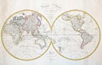 Mappe Monde en deux hemispheres.