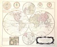 Mapa Mundi o descripcion del globo terrestre compuesta segùn las ultimas y nuevas observationes de las academias y de Paris y de Londres.