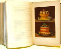 Le cousine par Joules Gouffè comprenant la cousine de mènage et la grande cuisine avec 25 planches ..en chromo – lithographie et 161 vignettes sur bois.