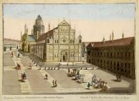 Prospectus ecclesiae Chartusianorum extra moenia Papiae.
