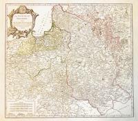 Le Royaume de Pologne divisé selon les partages fait en 1772, 1793 et 1795 entre la Russie, la Prusse et l'Autriche.