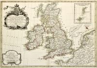 Les Isles Britanniques comprenant les Royaumes d' Angleterre d' Ecosse et D' irlande divisès en grandes provinces