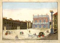 Veduta di una Facciata del Palazzo pubblico di Brescia – Vue d'une Façade de l'Hotel de ville à Bresse.