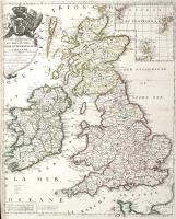 Les isles britanniques ou sont les royaumes d'Angleterre, d'Escosse et d'Irlande divisez en leurs provinces.