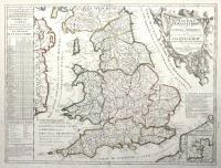 Le royaume d'Angleterre divisé en plusieurs parties subdivisées en Comtez ou Shireries...