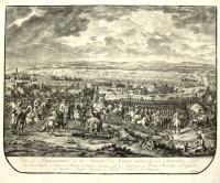 Vuë er Representation de la bataille de Chiari donnée le 3. de Septembre 1701.