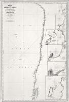Carte des côtes du Chili et de la Bolivie dressée d'apres les travaux du Cap. Fitz-Roy