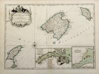 Carte des Isles de Maiorque Minorque et Yvice dediée a M. le Comte de Maurepas.