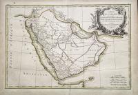 Carte de l'Arabie qui se divise en Arabie Petrée, Deserte et Heureuse…