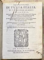 Descrittione di tutta Italia...nella quale si contiene il sito di essa; la qualità delle parti sue... aggiuntavi la descrittione di tutte l' isole...