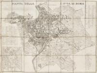 Pianta della città di Roma nell'anno 1830.