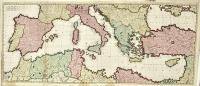 Mare Mediterraneum exhibens oras Hispaniae, Galliae, Italiae…