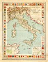 Carta politico-amministrativa del Regno d'Italia colle linee ferroviarie e di navigazione