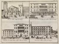 Duomo della città di Trivigi-Palazzo de' Nobb. V.V. Brescia nella città di Trivigi-Palazzo de' Conti Pola nella città di Trivigi-Vescovato della città di Trivigi.