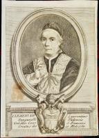 Clemens XIV Laurentius Ganganelli Vadensis Ord. Min. Conv. S. Francisci creatus die 19.Maii 1769.