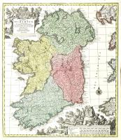 Regnum Hiberniae, tam secundum IV provincias principales Ultoniam, Connaciam, Lageniam, Momoniam, quam speciales accurate designata