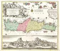 Insula Creta nunc Candia in sua IV territoria distincta, cum aliquod adjacentibus Aegei maris insulis inprimis nova Santorini insula…