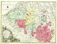 Nouvelle Carte du Cercle de Bourgogne ou l' on voit toutes les possessions de la maison d'Autriche dans les Pays Bas