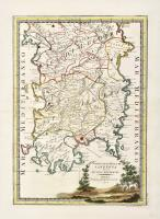 L'isola di Corsica divisa nelle sue provincie o giurisdizioni...Insieme a: Parte dell'isola di Sardegna divisa nei suoi distretti