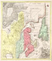 Parte orientale de la Nouvelle France ou du Canada avec l'isle de Terre-Neuve et de Nouvelle Escosse Acadie et Nouv. Angleterre avec Fleuve de St. Laurence