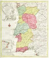 Regna Portugalliae et Algarbiae cum adjacentibus Hispaniae provinciis, quibus in peculiari et minori mappa adjunctum est Brasiliae Regnum