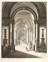 Veduta prospettica della Galleria de' Vasi e Candelabri nel Museo Pio-Clementino