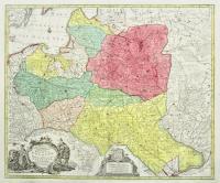 Mappa geographica ex novissimis observationibus repraesentans Regnum Poloniae et magnum Ducatum Lithuaniae