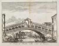 Il ponte di Rialto nella città di Venezia