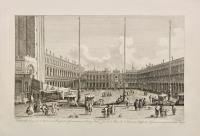 Veduta della Piazza di S. Marco, con la Chiesa di S. Geminiano, ora Palazzo reale (ripetuto in francese)