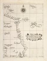 Carta particolare del mare Mediterraneo che commincia con Budua in Dalmatia è finisce con Corfu nelo Stato Venetiāo.