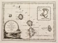 Le isole della Società e di Noel delineate sulle ultime osservazioni del capitano Cook