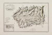 Carta corografica della divisione militare di Aosta. Provincia di Aosta.