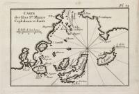 Carte des Isles S.te Maure Cephalonie et Zante