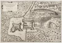 Il Vero ritratto de Zighet con Il suo Castello, fortezza nuova, Paludi, Lago fiume & ponte, & altre Cose Notabili per lettere annotate, con monstra del monte fatto da Turchi, & con l'asalto datogli da essi.