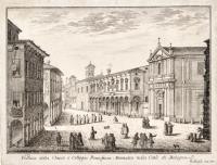 Veduta della Chiesa e Collegio Pontificio Montalto nella Città di Bologna