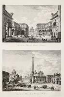 Vue de la Place du Marché à Catane - Vue de la Place de l'Obelisque à Catane