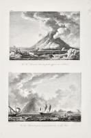 Vue du Stromboli dans la partie opposeé au nord est (con:)  Vue du Stromboli prise en y arrivant du coté du Midi.