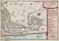 Plan de Pondichery a la côte de Coromandel