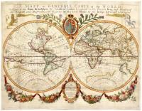 A mapp or generall carte of the world designed in two plaine hemisphers by Monsieur Sanson…