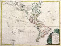 L'Amèrique divisée dans les principaux Etats avec les Nouvelles Decouvértes du Capit. Cook depuis le detroit de Behrings jousqu' au Nord dans l'Ocean pacificque et du Capit. Jean Meares dans les années 1788 et 1789.