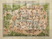 Nouveau Paris monumental avec le parcours du métropolitain