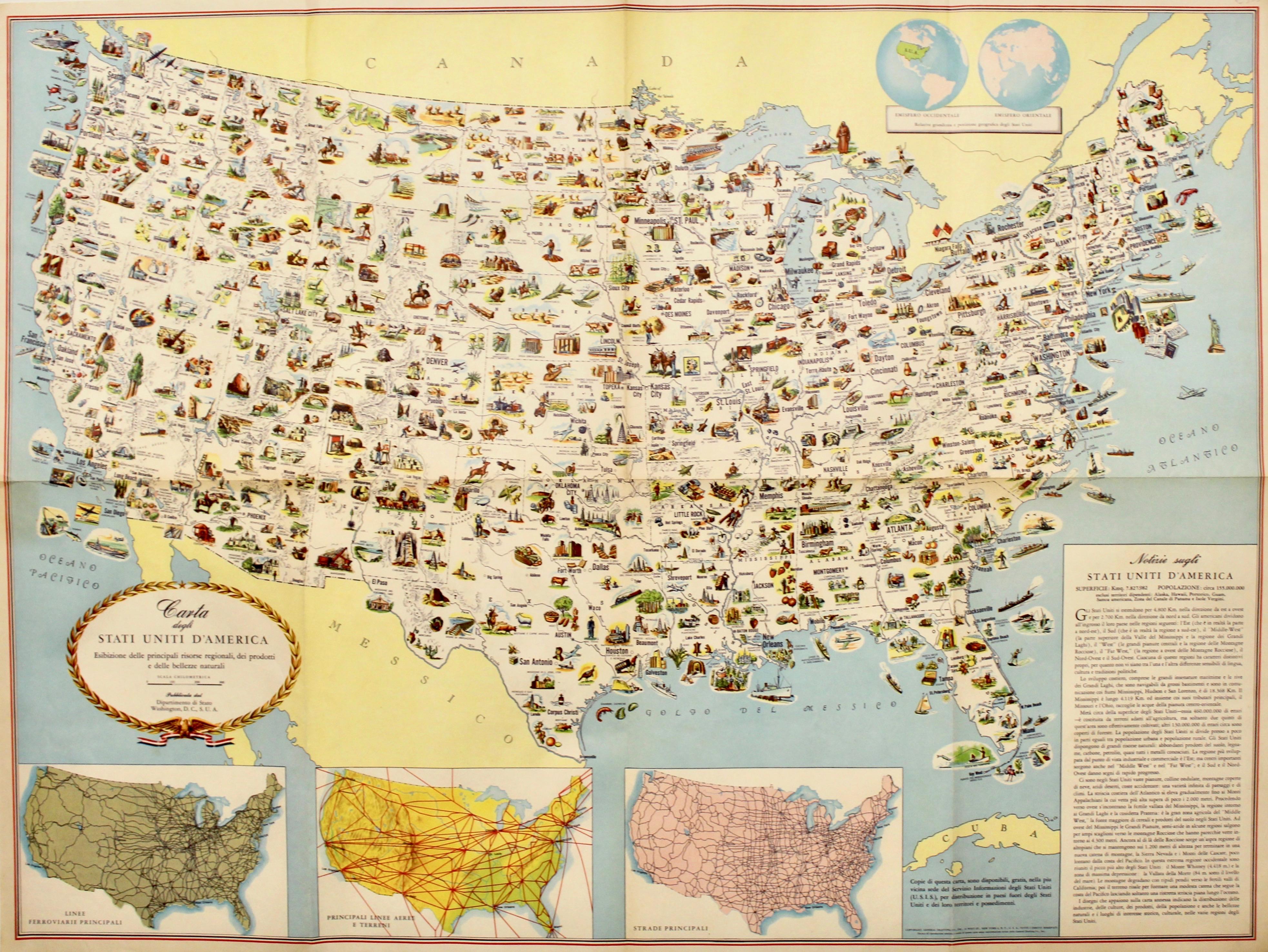 La Cartina Degli Stati Uniti D America.Anonimo Carta Degli Stati Uniti D America