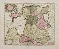 Ducatuum Livoniae et Curlandiae, nova tabula descripta. Divisa et edita