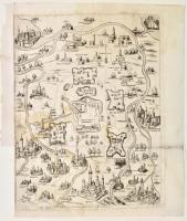 Vero disegno de la Mirandola con le città casteli ville et poste nel suo sito.