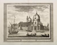 Altra veduta della Dogana di mare (titolo ripetuto in latino al centro e francese a d.)