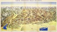 Carta turistica delle Dolomiti