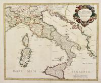 Italia divisa ne' suoi Regni, Principati, Ducati, et atri Dominii, si come al presente si ritrova. Fatta da Nicolò Sansone e…aumentata da Michele Antonio Baudrand.