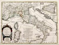 L'Italie divisée en ses estats tirée des Memoires du Sr. Cantel geographe et de plusieurs autres...corigée et augmentée par le Sr. Tillemont...